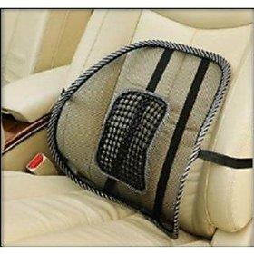 skm Car Seat Back Rest Lumber Support Accupressure Beads-Black