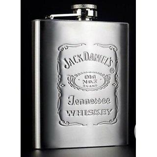New Jack Daniels 8oz Stainless Steel Hip Flask Wine Liquor Holder - 235ml