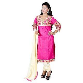 Pink Bhagalpuri silk suit