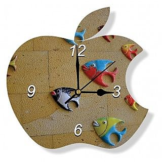 Wall Clock Apple Gouri Merchandisers Size 11 Inch