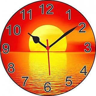 ske 3D beautiful sunset wall clock