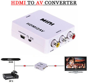 HDMI2AV HDMI to RCA Video Audio AV CVBS Adapter Converter 720p 1080p NTSC PAL