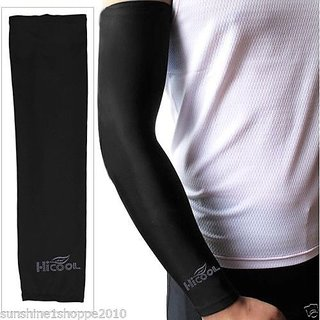 Hi Cool Arm Sleeves for Bikers Black Colour