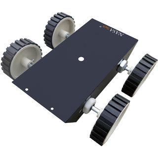 Metal Chassis with motor-wheel set II Metallic robotic platform complete set II Heavy duty Robot Chassis