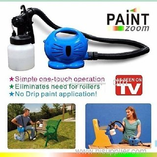 Paint Zoom Professional Paint Sprayer Painting Machine Compressor  Gun + Free 1 Aluma Wallet