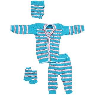 CHHOTE JANAB BABY 4 PCS. WOOLLEN SET (BLUE)