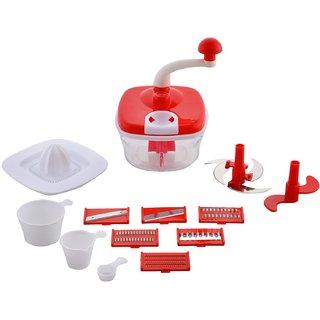Jony 10in1Red Manual Food Processor (Red)