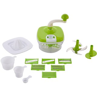 Jony 10in1Green Manual Food Processor (Green)