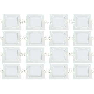 Bene LED 6w Square Panel Ceiling Light, Color of LED White (Pack of 16 Pcs)
