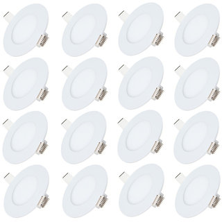 Bene LED 3w Round Panel Ceiling Light, Color of LED Warm White (Yellow) (Pack of 16 Pcs)