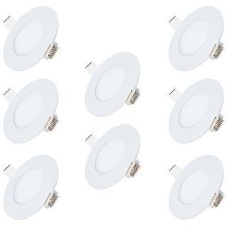 Bene LED 3w Round Panel Ceiling Light, Color of LED White (Pack of 8 Pcs)