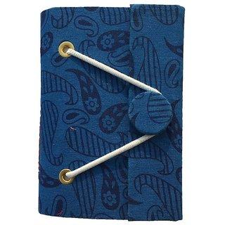 Handmade Bagru Print Button Diary (Size 12.8x8.7 Cm)