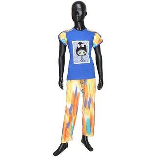 Valentine Girl's MultiColor Top and Pyjama Set