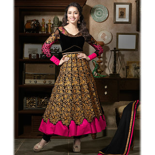 IshiMaya Black Georgette Anarkali Suit