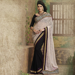 IshiMaya Black and OffWhite Designer Party wear Saree