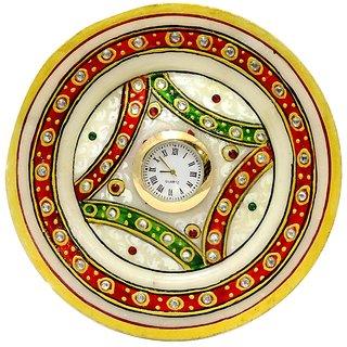 round simple thali table clock