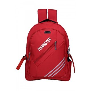 Mody  Compeny Red Nylon Backpack