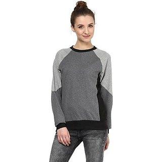 a9c86b7729b Hypernation Grey Color Round Neck Full Sleeve Cotton T-shirt-HYPW0589