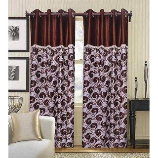 Premium Quality Ready Made Eyelet Door Curtain - 4x7 Feet (Set of 2)