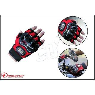 Probiker- Red Probiker Half Hand Premium Biking Golves