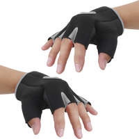 Imported Unisex Breathable Half Finger Bike Bicycle Cycling Riding Gloves Gray L