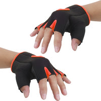 Imported Unisex Breathable Half Finger Bike Bicycle Cycling Riding Gloves Orange S