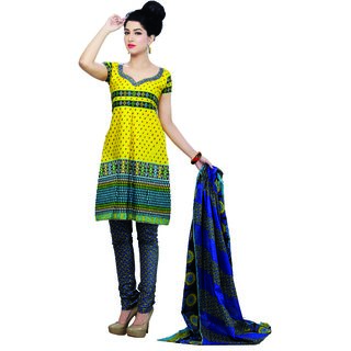 d01e9d84121b Kamui Cotton Women Blue And Yellow Unstitched Ethnic Wear Prices in India-  Shopclues- Online Shopping Store