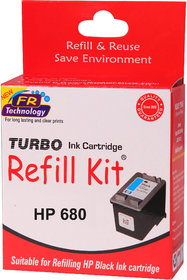 Turbo ink refill kit for HP 680 black cartridge
