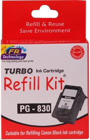 Turbo ink refill kit for Canon 830 Black cartridge
