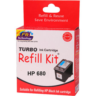57b92ebfb63d Buy Turbo ink refill kit for HP 680 black cartridge Online - Get 21% Off