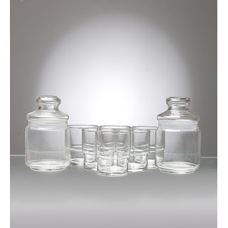 Ocean Morning 8-piece Glass and Jar Set