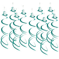 Imported Baby Shower Wedding Birthday Party Hanging Swirl Banner Decoration Lake Blue