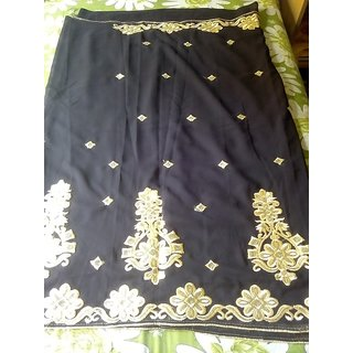 Chiffon Sarees for women with printed blouse and embroidered border