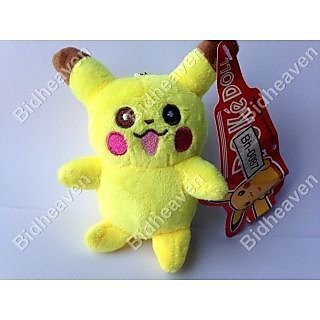11cm Cute Pikachu Soft Plush Stuffed Teddy Doll Toy Suction Cup