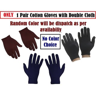 Cotton Hosiery Soft Hand Gloves for Men, Women, Bike Gloves with double Cloth CODEoR-9751