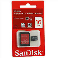 16gb sandisk microsd card of class 6