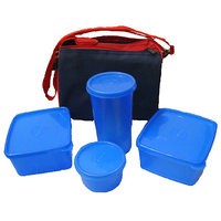 Topware Plain Blue 4 container Best Lunch box