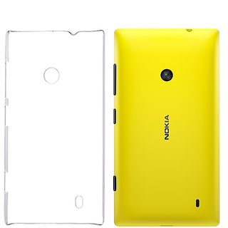 RKA Crystal Clear Transparent Hard Back Case Cover for Nokia Lumia 520