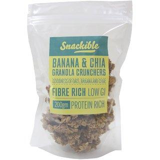Snackible Banana  Chia Granola Crunchers