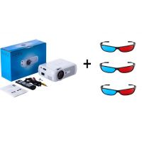 Everycom X7 LED Video Projector 1080P For Home Cinema Theater With Free Three 3D Glasses (White)