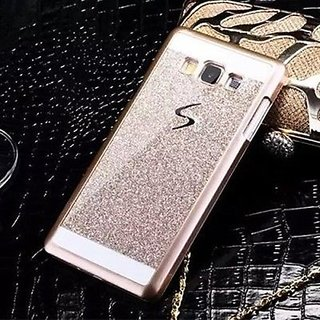 ACCWORLD Luxury Sparkling Hard Back Case Cover For Samsung Galaxy J7 (2016) (Gold)