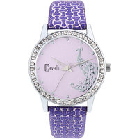 In Vogue Cavalli Pink Dial Analog Watch- For Women
