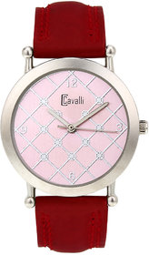 Ostentatious Cavalli Pink Dial Analog Watch- For Women