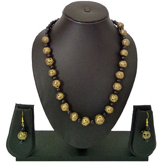 Bunch Of Golden & Black Beads