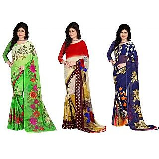 Stylobby Multicoloured Georgette Saree 1718213