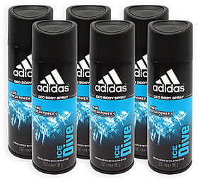Adidas Set of 5 Ice Dive Deodorants 150ML Each