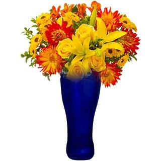 Boot Glass Flower Vase