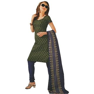 Womens Partywear unstiched Cotton Dress Material