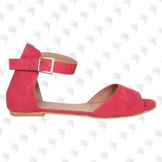 sarvolife women fashionable red cherrie ballerina shoe
