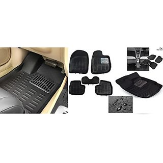 ROYAL Assorted Floor Mat 3D Type For Maruti Suzuki Baleno New (Black)